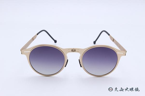 ROAV 偏光太陽眼鏡 Balto - Mod.1003 ( 金框/漸層灰) 薄鋼折疊墨鏡