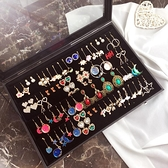 首飾收納盒  耳釘耳環收納整理收藏盒大展示架耳墜飾品珠寶箱