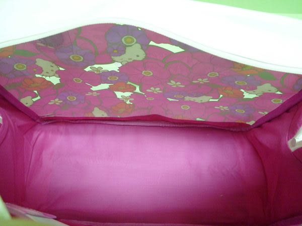 【震撼精品百貨】Hello Kitty 凱蒂貓~透明手提袋肩背包旅行袋海灘包『花花』