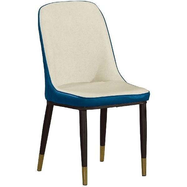 餐椅 QW-706-16 雅薇藍色皮餐椅【大眾家居舘】