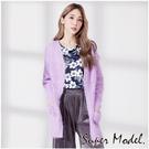 【名模衣櫃】毛海開襟針織外套-紫色(F可選)        33172-04