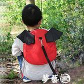兒童書包  小惡魔防走失背包1-3兒童嬰幼兒寶寶防走丟書包帶小孩牽引繩背包 夢藝家