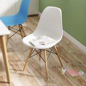 餐椅 北歐椅子現代簡約風家用懶人學生靠背書桌凳子簡易餐椅T 9色