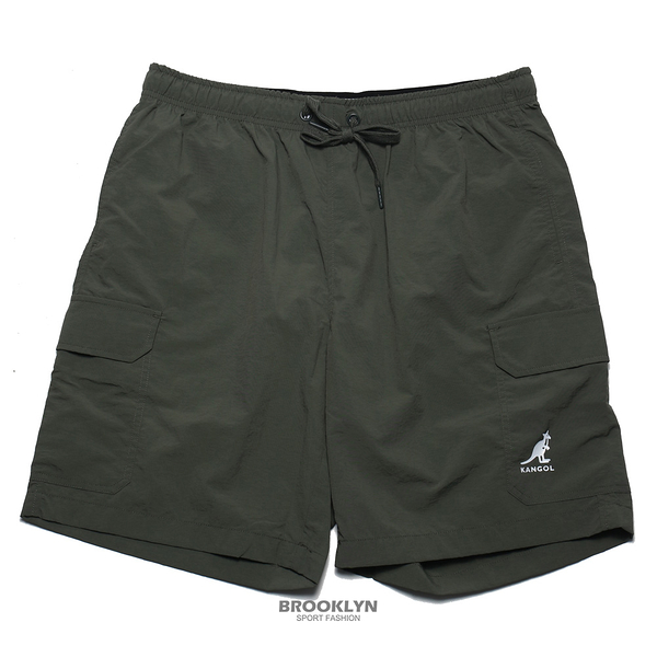 KANGOL 短褲 軍綠 口袋 平織 風褲 男 (布魯克林) 6125152073