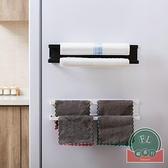 磁鐵冰箱保鮮膜收納架置物架側壁免打孔【福喜行】