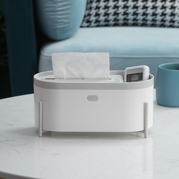 家用抽紙盒紙巾盒客廳桌面創意紙抽茶幾遙控器收納卷紙盒北歐ins 電購3C
