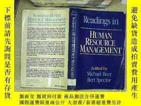 二手書博民逛書店Readings罕見in human resource mana