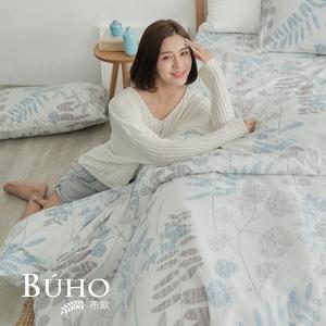 BUHO 單人床包+雙人被套三件組(浮生虛閒)