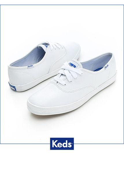 KEDS 經典皮質休閒鞋 小白鞋│平底鞋 W110015 女鞋