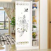 屏風隔斷客廳玄關櫃現代時尚移動門廳裝飾櫃鏤空雕花櫥窗背景 週年慶降價