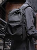 伊人 後背包男士時尚學生書包簡約休閒電腦包個性旅行背包韓版新款