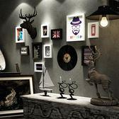 服裝店裝飾畫創意客廳墻壁掛畫個性理髮店壁畫沙發背景墻復古墻畫WY 月光節85折
