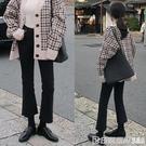 高腰微喇牛仔褲女九分喇叭褲2020春裝新款寬鬆直筒八分小個子顯瘦 印象家品