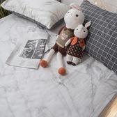 白大理石 Q4 雙人加大床包+涼被四件組 100%精梳棉 台灣製