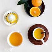 手動榨汁機 健康環保陶瓷手動榨汁器簡約純白無菌易清晰手工榨汁機鮮榨水果器 夢藝家