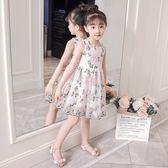 2018女童夏裝新款連衣裙韓版背心裙蕾絲網紗公主裙兒童洋氣裙子洋裝 連身裙 女童裝2-8歲