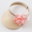 遮陽帽 Dave Bella 小童 大童 粉色大花朵編織款遮陽帽 帽子 鴨舌帽 DB7394