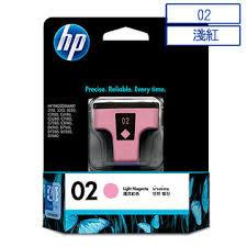 HP C8775WA NO.02原廠淡紅色墨水匣 適用3110/3310/5180/6180/6280/7180/7280/8180/7160/7260/7360/7460/8230(原廠品)