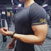 健身衣教練運動t恤肌肉籃球緊身衣男兄弟高彈訓練速干短袖健身服 【萬聖夜來臨】