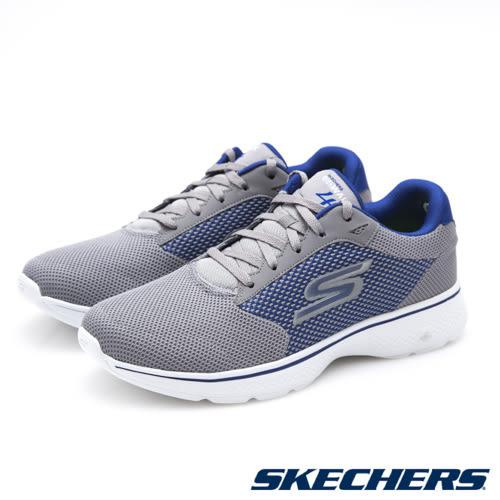 【SKECHERS 促銷7折】SKECHERS GO WALK 4 健走鞋 (男) - 54150GYBL