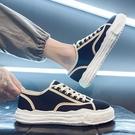 帆布男鞋夏季透氣薄款厚底平板鞋黑色老北京防臭布鞋運動休閑潮鞋 初色家居館