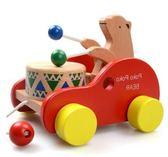 木制质动物拖拉玩具木制寶寶拖拉玩具兒童拉線動物學步 igo全館免運