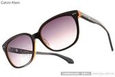 Calvin Klein 太陽眼鏡 CK4215S 090 (黑-橘) 率性百搭熱銷經典款 # 金橘眼鏡