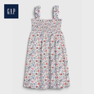 Gap 女幼童 創意花卉印花背帶洋裝 539847-紫色花紋