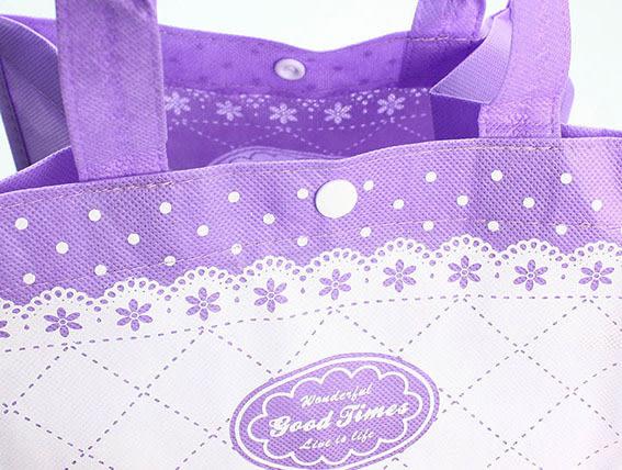 紫色 手提袋 包裝袋 環保袋 不織布袋 購物袋L015