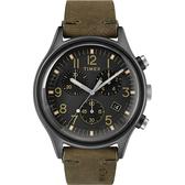 TIMEX 沙漠風暴計時皮帶腕錶-TW2R96600