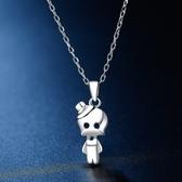 項鍊 925純銀吊墜-可愛外星人生日母親節禮物女飾品73hj16【時尚巴黎】