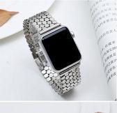 年末鉅惠 金屬鍊式蘋果apple watch手錶帶智能潮38/42mm男女腕 iwatch1/2/3不銹鋼錶帶