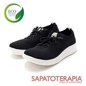 【南紡購物中心】SAPATOTERAPIA(女)ECO綠色生態輕質綁帶運動休閒鞋 女鞋-黑色