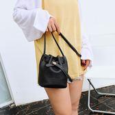小包包女秋季上新女包抽帶水桶包迷你單肩包斜背包時尚小挎包 檸檬衣舍