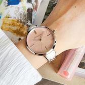 RELAX TIME 閃耀系列輕奢女錶-粉貝x銀/36mm RT-68-7