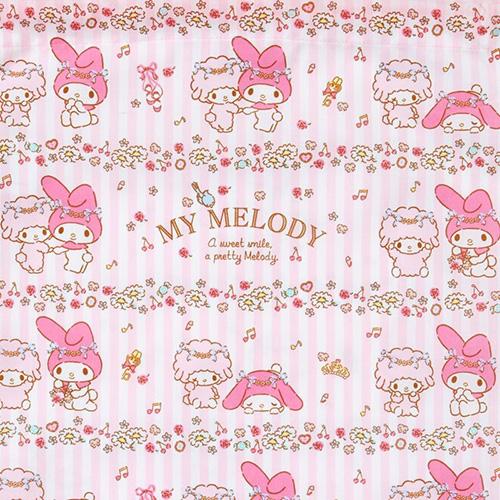SANRIO 日製棉質縮口袋L 美樂蒂 芭蕾_646245