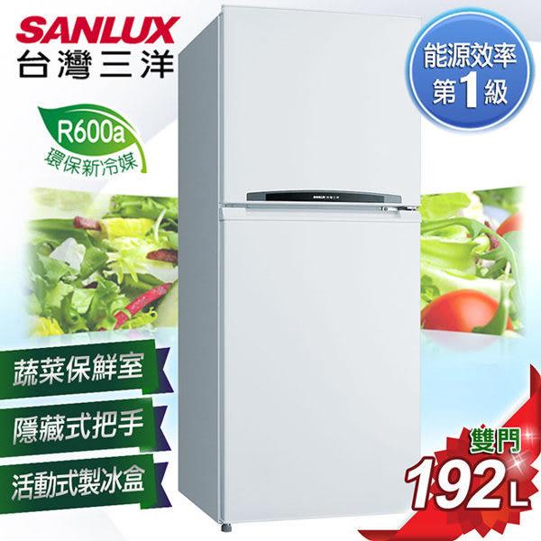 台灣三洋 SANLUX 192公升雙門定頻冰箱 SR-B192B(免運費)
