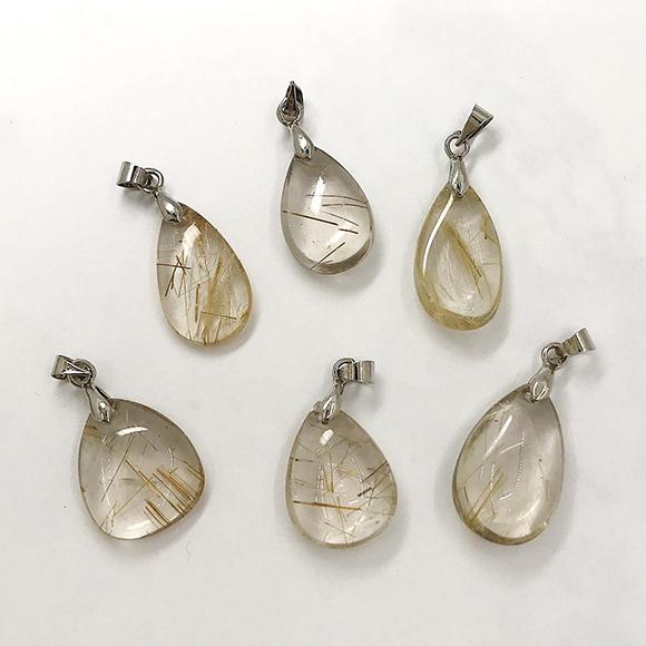 『晶鑽水晶』天然鈦晶墜子 22 23 25號 超值特惠 招財 晶體清透 三款可選 氣質項鍊 送禮 禮物