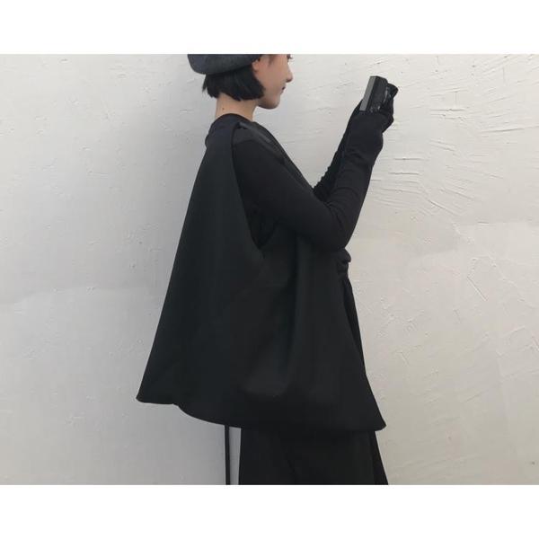 側背包韓版上新慵懶風大包暗黑風側背包手提包拼接休閒帆布包女包新年禮物