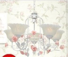 設計師美術精品館現代田園風格吊燈 簡約花草燈飾 客廳餐廳臥室吊燈 鐵藝花草吊燈