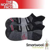 【The North Face 男女 運動羊毛跑步襪《黑/灰》】3CNN/中筒襪/羊毛襪/防臭/運動襪/保暖襪