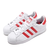 【五折特賣】adidas 休閒鞋 Superstar W 白 紅 女鞋 卡通眼睛 貝殼頭 運動鞋 【PUMP306】 CM8413