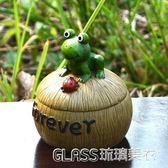 蝸牛青蛙烏龜毛毛蟲有蓋煙灰缸創意樹脂煙缸田園時尚禮物    琉璃美衣