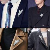 個性羽毛胸針男士西服領針大衣別針配飾