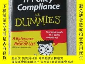 二手書博民逛書店IT罕見policy compliance for dummie