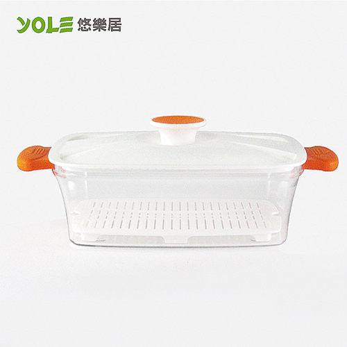 【YOLE悠樂居】Blest易料理長形蒸籠1400ml #1129007 蒸碗 微波耐熱