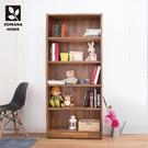 【多瓦娜】MIT日式工業-集成2.7尺書架/展示櫃/收納櫃/書櫃-111-02-BK2