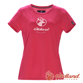 【wildland 荒野】女 彈性印花經典抗UV上衣『嫣紅』0A71637 T恤 上衣 休閒 抗紫外線 吸濕 排汗 印花