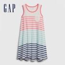 Gap女童 做舊風格條紋無袖洋裝 578106-新純白條紋