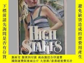 二手書博民逛書店英文原版罕見High Stakes by Melinda Sno